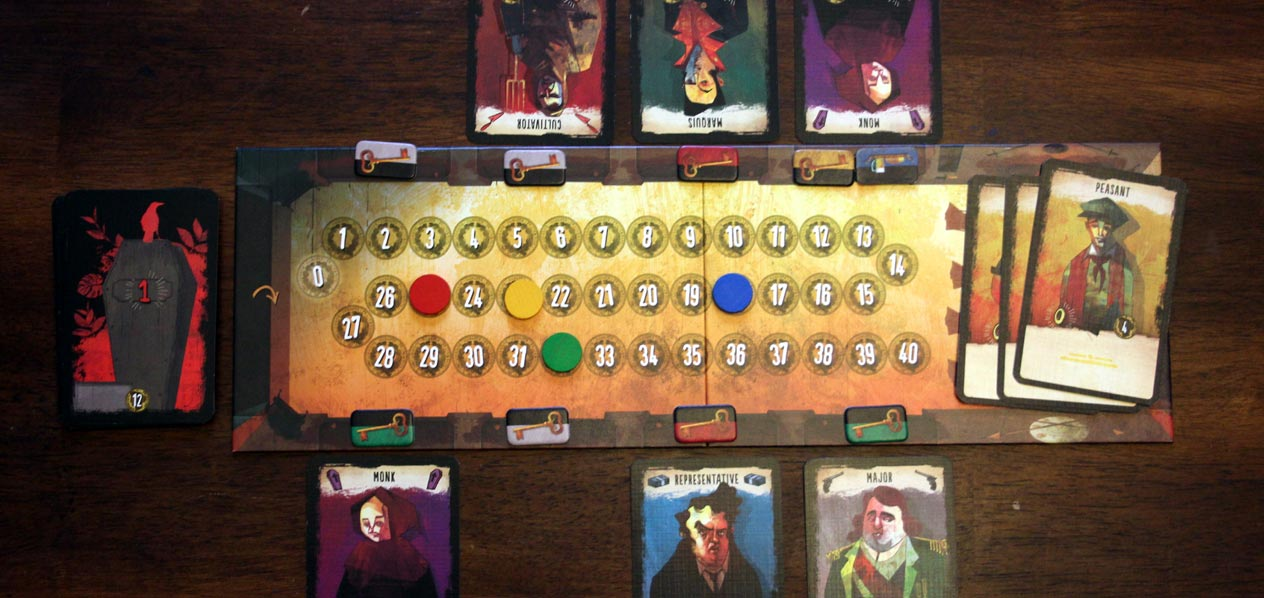The Bloody Inn board layout