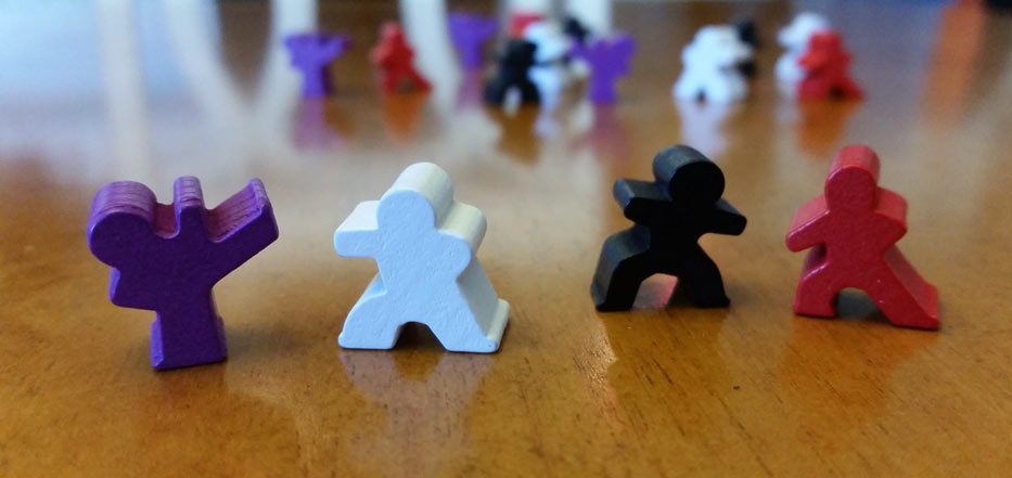 Ninja Camp Meeples
