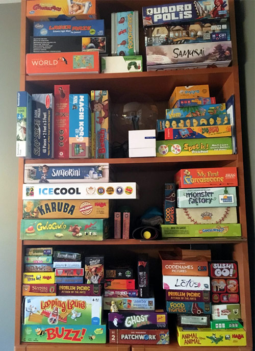 Kids Game Shelf