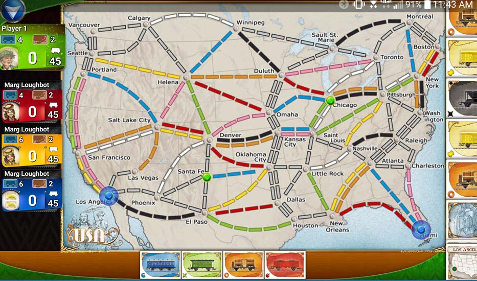 Ticket to Ride App Map