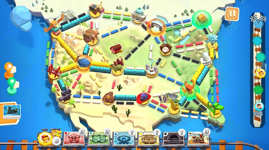 Ticket to Ride: First Journey board