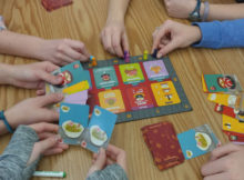 Sushi Go Party in the classroom