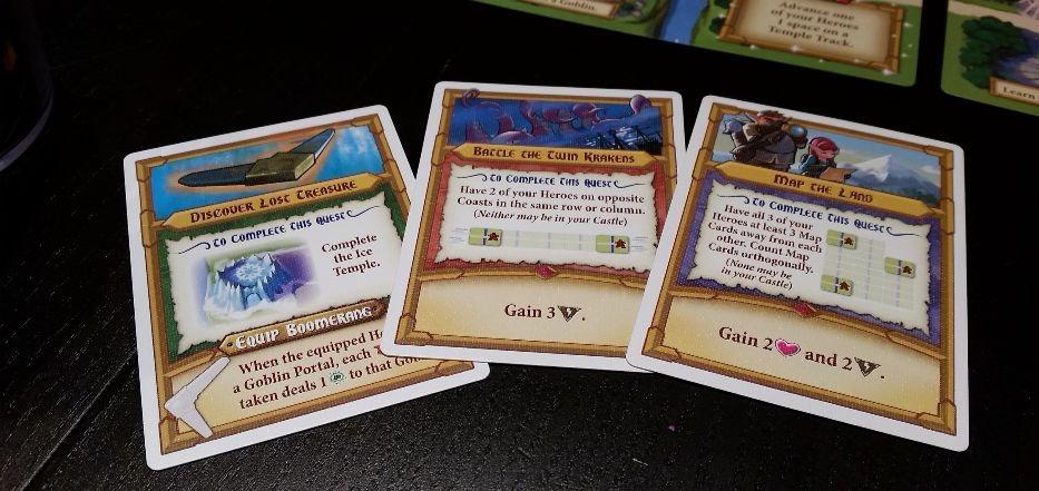Tiny Epic Quest - Quest cards