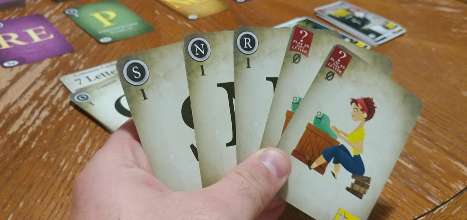 Paperback player hand