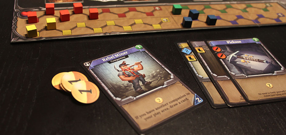 Clank! cards and coins