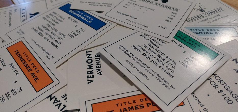 Monopoly deeds