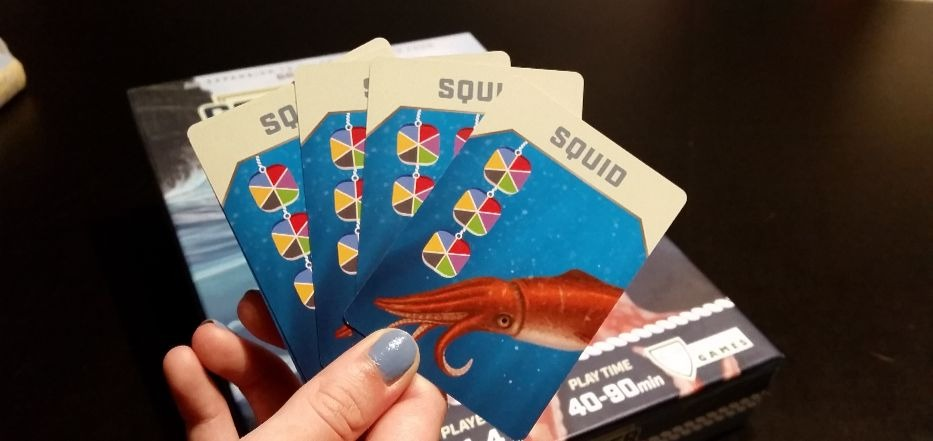 Coldwater Crown: The Seas squid cards