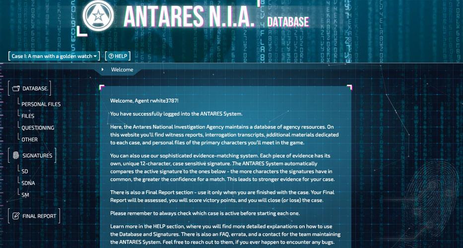 Detective website