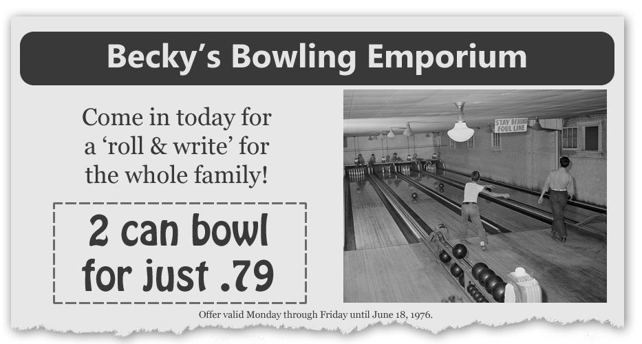 Becky's Bowling Emporium coupon