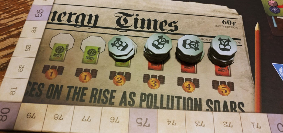 Energy Empire - pollution tokens