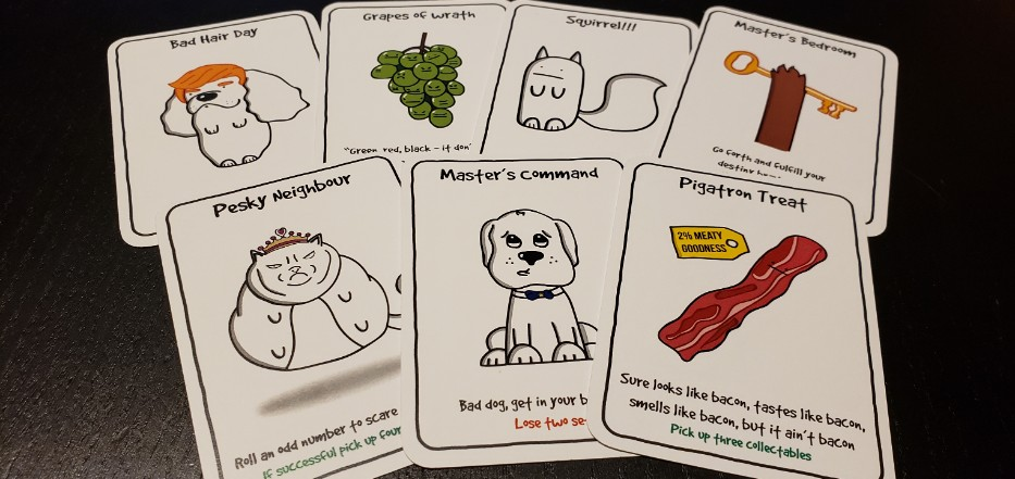 Canine Kleptomaniacs action cards