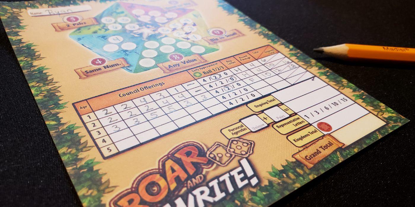 Roar and Write sheet