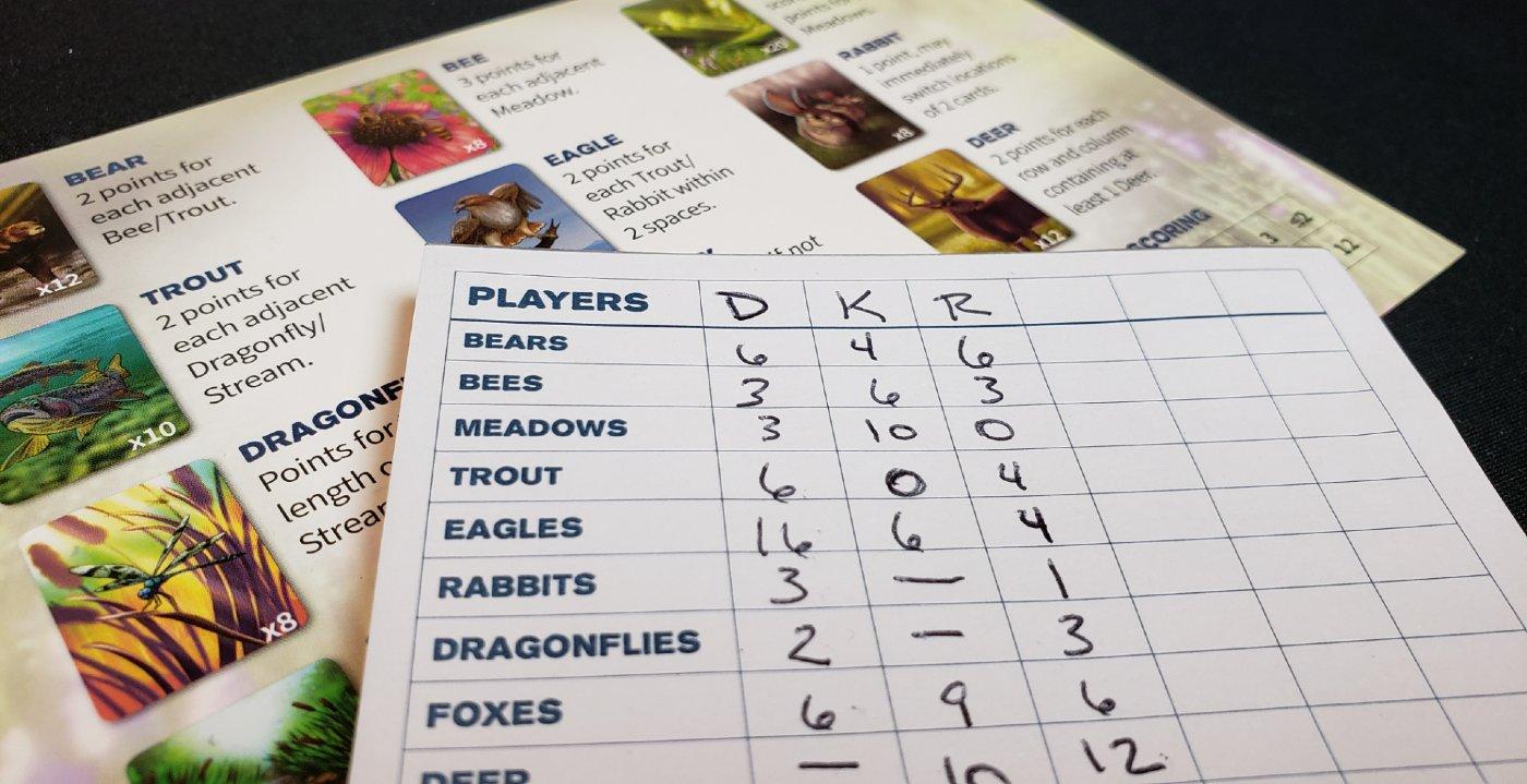 Ecosystem score pad