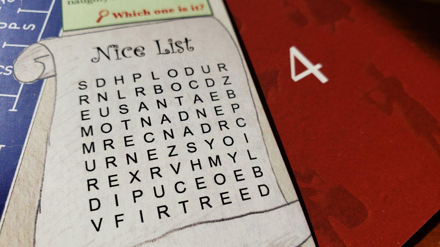 The Kringle Caper nice list