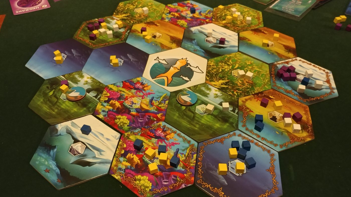 Kingdoms of the Deep tiled board