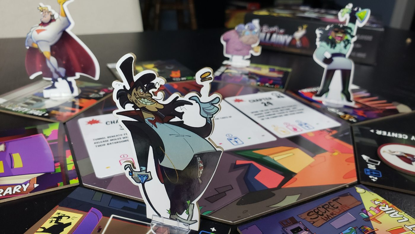 Book of Villainy character standees