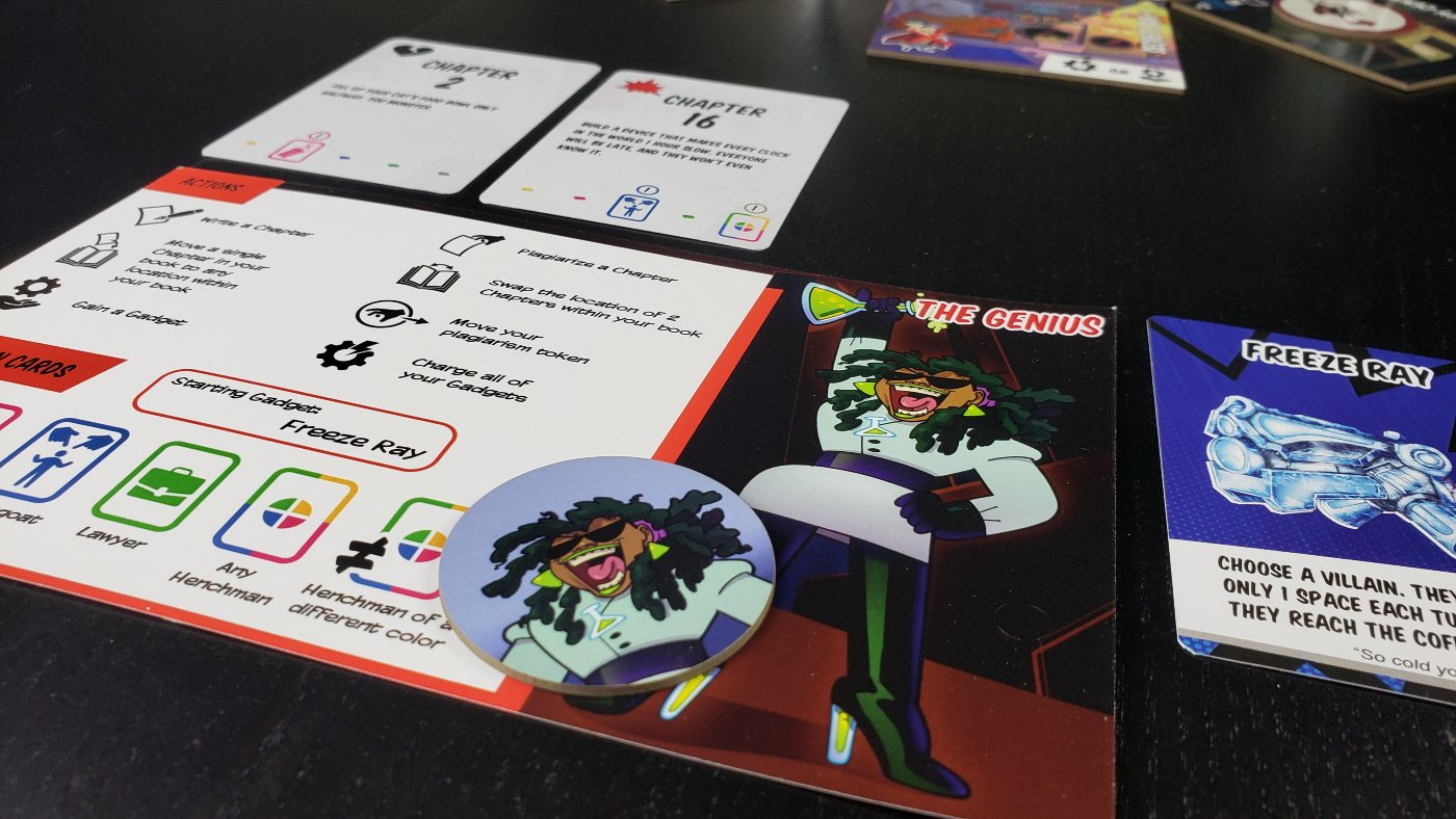 Book of Villainy player board
