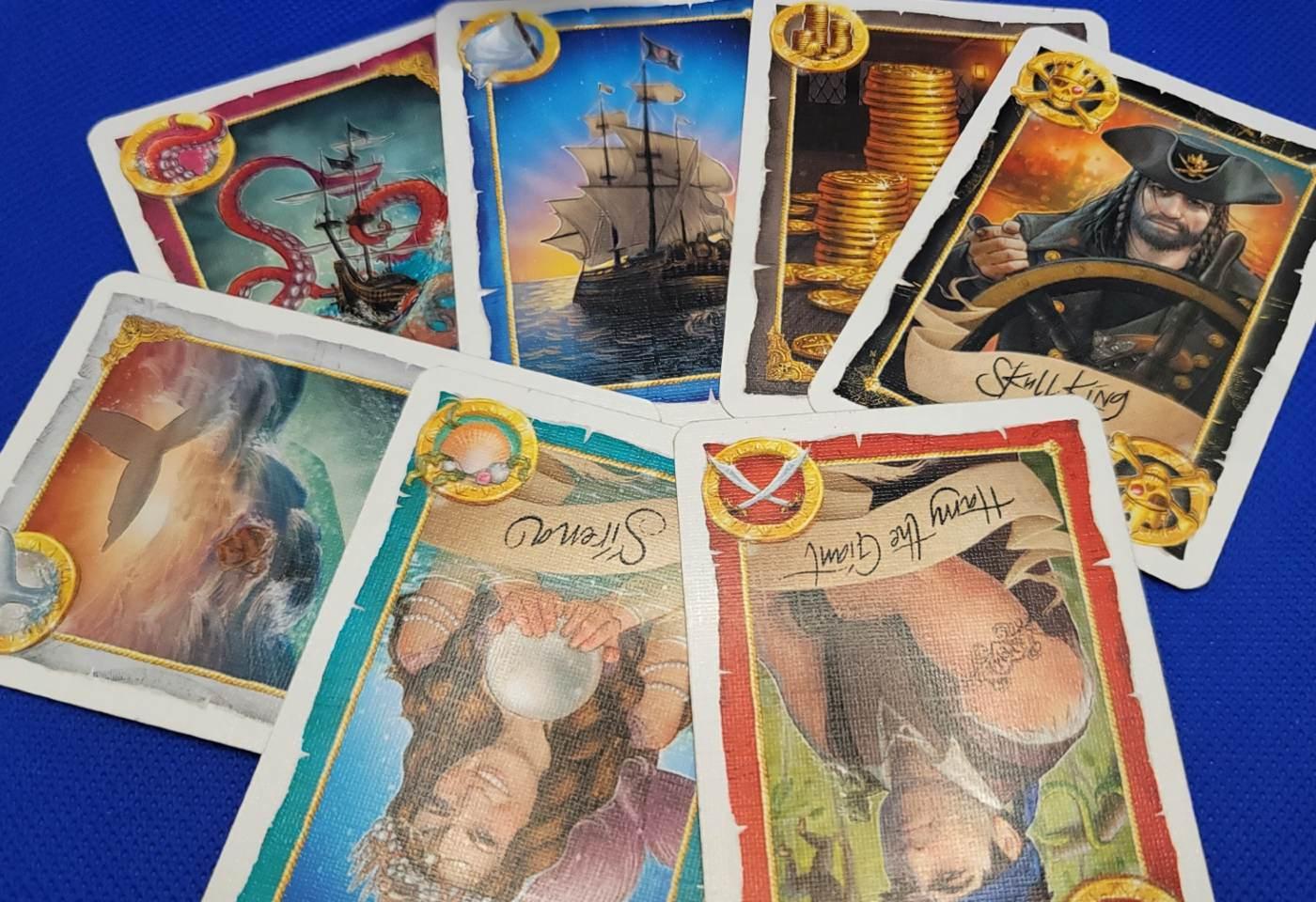 Skull King card types.