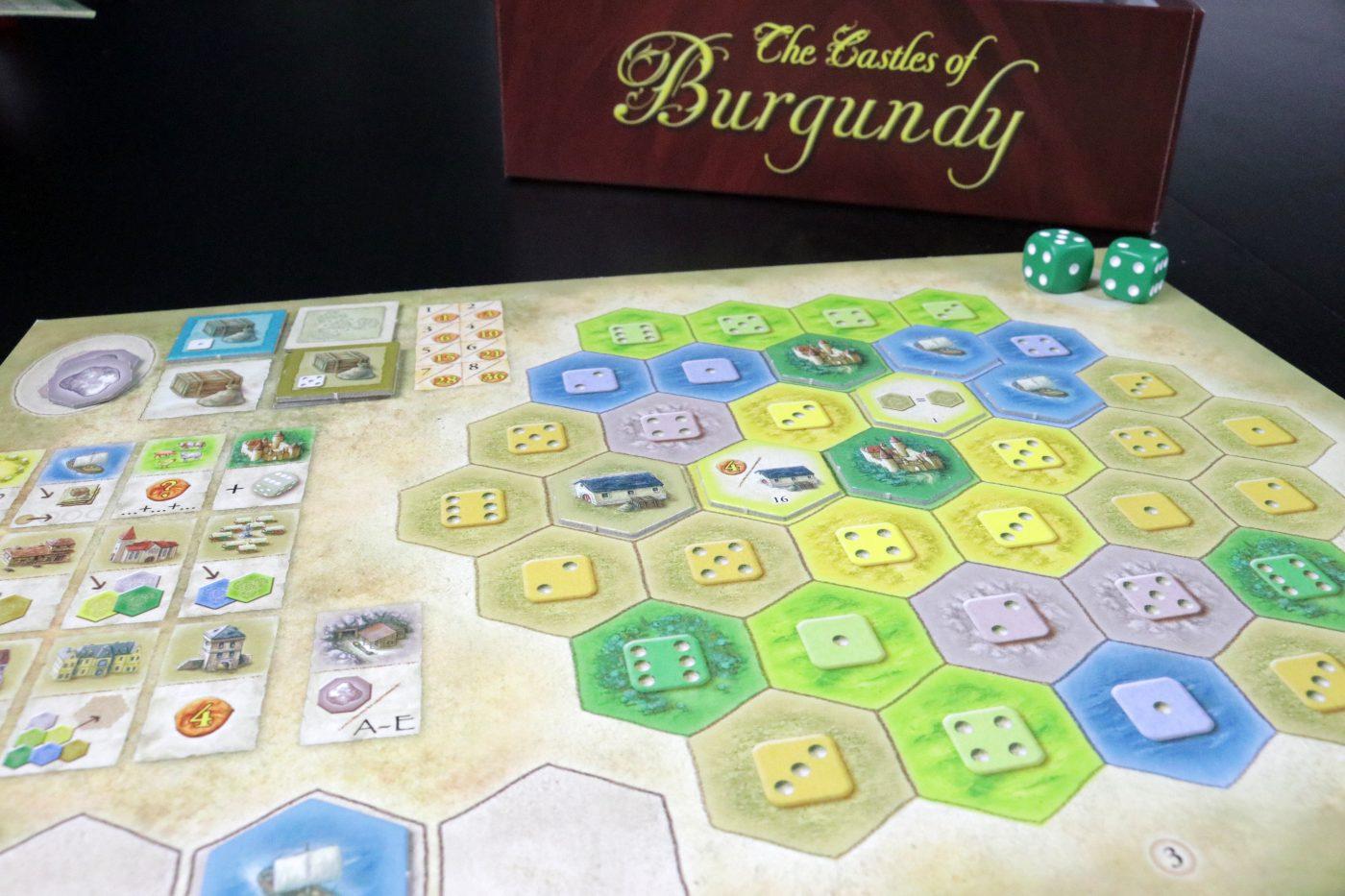 Castles of Burgundy player board