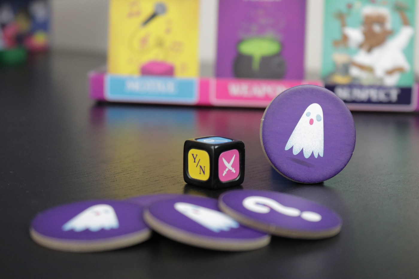 Ghosted die and tokens